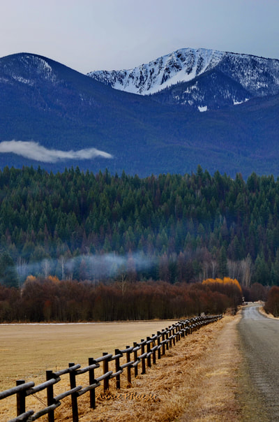 Mountains, Fence, Fall, Landscape, Nature, Road